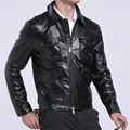 new 2017 men leather jacket Asian size high-quality brand Sun Honglei the same paragraph winter leather jacket men coat