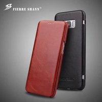 For Galaxy S8 S8plus Flip Case Luxury Business Genuine Leather Back Cover Case For Samsung Galaxy