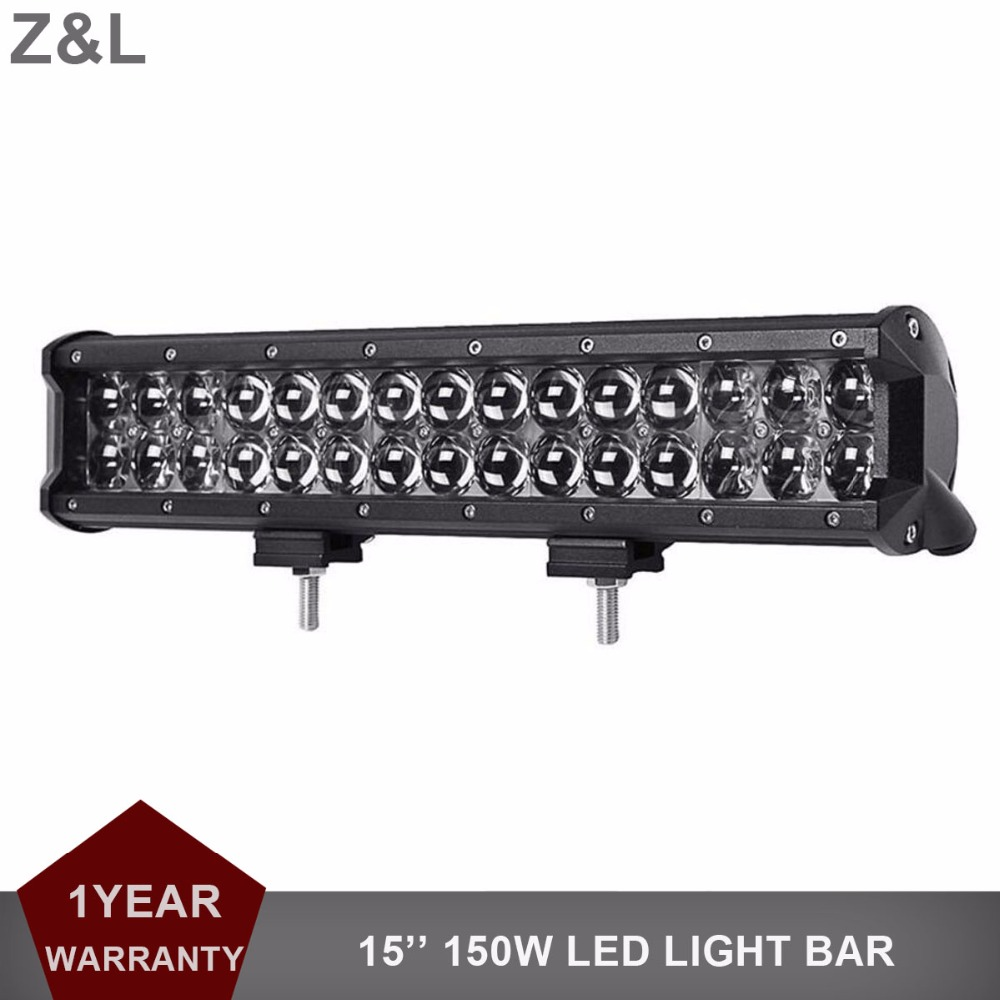 15\'\' 150W Offroad LED Work Light Bar Combo Truck Trailer SUV Boat ...