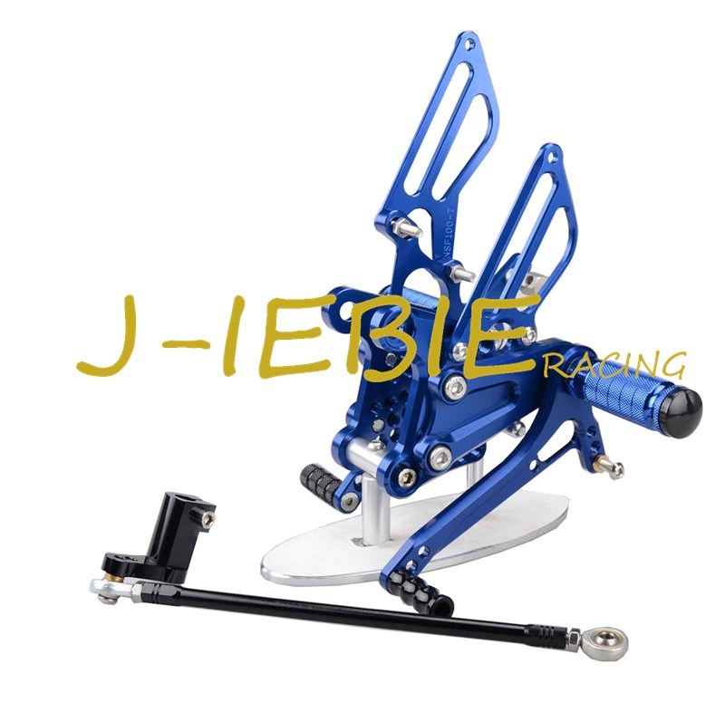 CNC Racing Rearset Adjustable Rear Sets Foot pegs Fit For Honda NSR50 NSF100 ALL YEARS BLUE kingsun rear adjustable ball joint camber control suspension arm kit for 1990 1997 honda accord acura cl tl1996 1999 blue