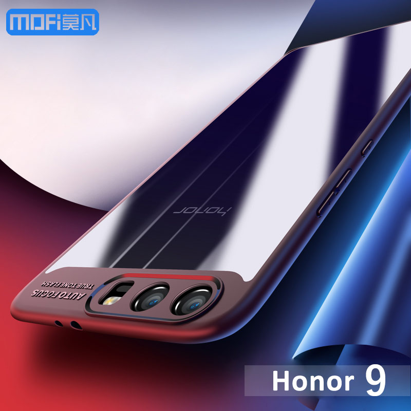HUAWEI Honor 9 Cover Case MOFI Hard PC Transparent Back Cover Case + TPU Silicone Frame Case For Honor 9 Full Cover Protective