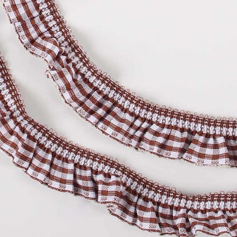 Koop 20 Mm Elastische Plaid Gedrukt Lace Trim Linten Voor Kledingstuk Hoofdtooi Diy Naaien Accessoires 2 Yards/4 Yards/Lot P0409