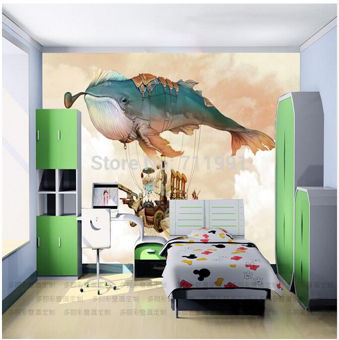 Free shipping custom modern 3D large murals bedroom TV background children living room wallpaper whale Mr. free shipping custom large murals of the nordic wood eco living room bedroom tv background wall on a board of nuts