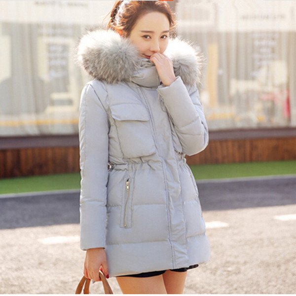 ФОТО XS-5XL, Plus size fur coats women hooded long coat women's winter jackets white duck down jacket female outerwear parka Q288