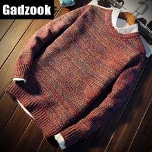 Для мужчин одежда утепленный свитер осень и зима мужской с О-образным вырезом горловины, свитер, пуловер, свитер мужской Для мужчин, детская одежда