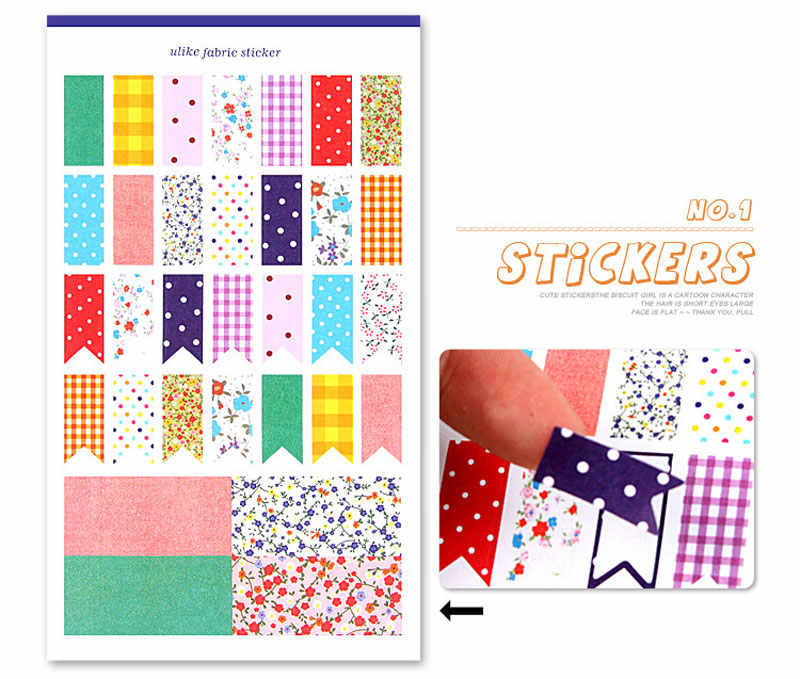 Fashion Multi-Function Photo Album Stickers - Dotted Canvas DIY Paper Sticker 6 Sheets / Set Decorative Album Diary PA27