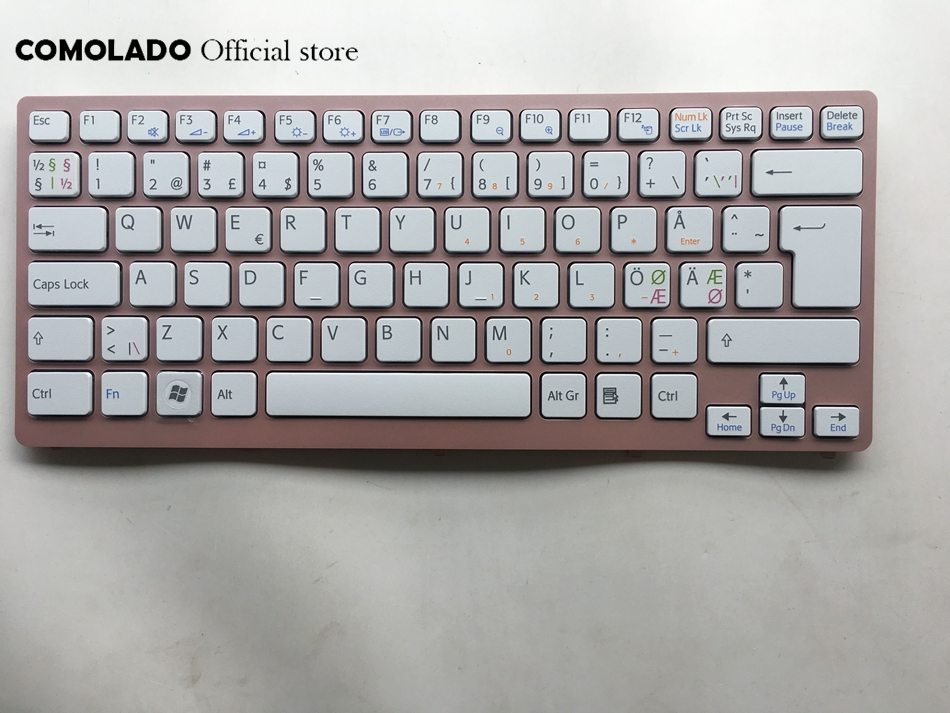 ND Nordic <font><b>Keyboard</b></font> For Sony Vaio VPC-<font><b>CW</b></font> VPC <font><b>CW</b></font> VPCCW CW16EC CW18FC pink Frame Laptop <font><b>Keyboard</b></font> ND Layout image