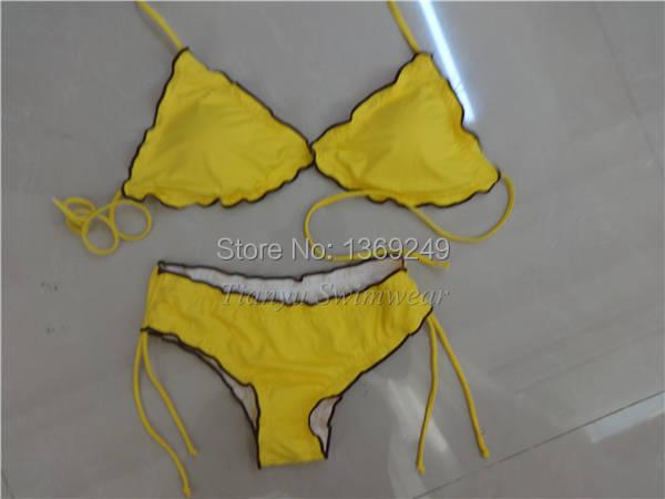volant bra bikini bottom set costume da bagno della ragazza 2015 nuovi costumi da bagno