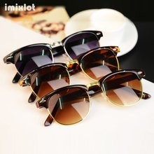 Imixlot Brand Half Metal Sunglasses Men Women Brand Designer Glasses Mirror Sun Glasses Fashion Gafas Oculos De Sol UV400