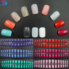 50pcs/set Wholesale Professional Colofrul Fake Nail Art Tips Decorated 25 Colors