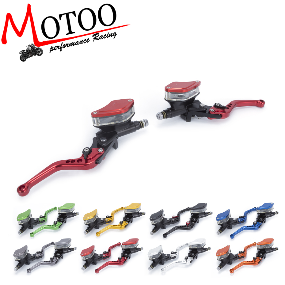 Motoo - FREE SHIPPING Motorcycle Master Cylinder Reservoir Hydraulic Brake Clutch Lever FOR YAMAHA R3