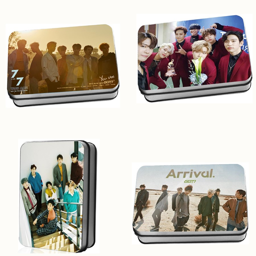 Strict Kpop Got7 Album Polaroid Lomo Photo Card Mark Jackson Jb Collective Hd Photocard Cards Poster With Metal Box Jewelry Findings & Components
