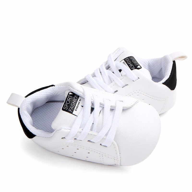 נעליים בלעדי רך נעליים מזדמנים ילדה ילד תינוק שזה עתה נולד תינוק 0-18Months מאמני נעלי התחרה עד PU Pram