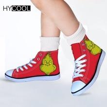 HYCOOL zapatillas de deporte para niños niñas deportes zapatos el Grinch  impreso niño zapatos para correr bc81d10a3c0dd