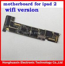 10pcs/lot Logic board for ipad 2 original Motherboard installed IOS system board Factory unlock mainboard 16GB wifi version