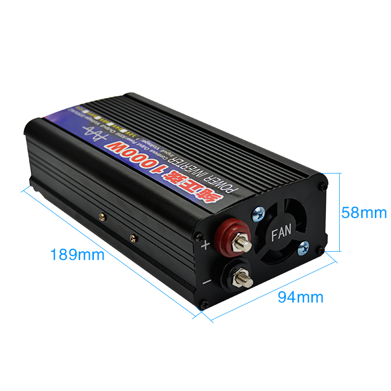 Image 2 - SUNYIMA 1000W Pure Sine Wave Inverter DC12V/24V To AC220V 50HZ Power Converter Booster For Car Inverter Household DIY-in Inverters & Converters from Home Improvement