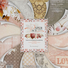 WISHMETYOU Beautiful Printed Pattern Paper Scrapbooking Set Of 24 Sheets Handmade Background Diy Decor Photo Album Craft