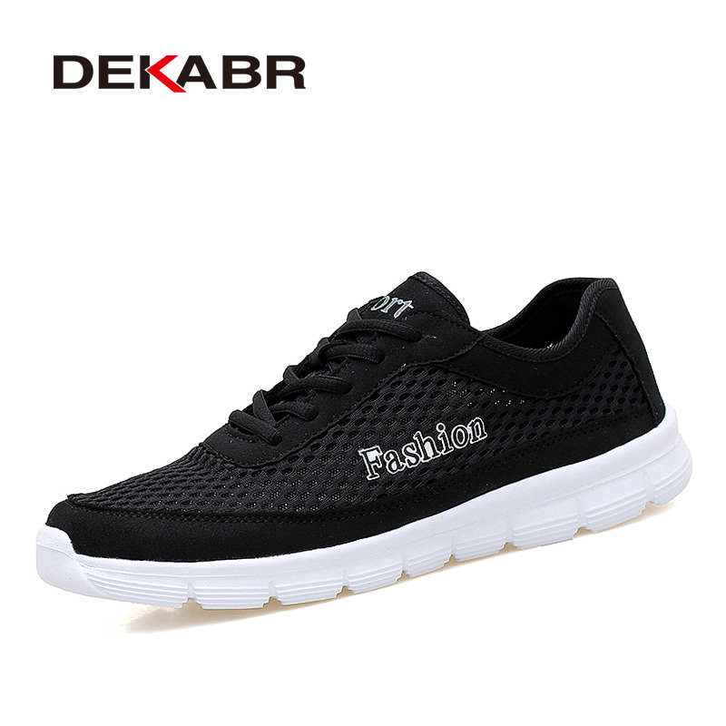 DEKABR Brand Men Shoes New Summer Mesh Shoes Breathable Light Weight Casual Shoes Lace-up Fashion Men Footwear Plus Size 38-48 men s casual shoes new summer mesh breathable comfortable men shoes lace up footwears plus size 35 48 1607m