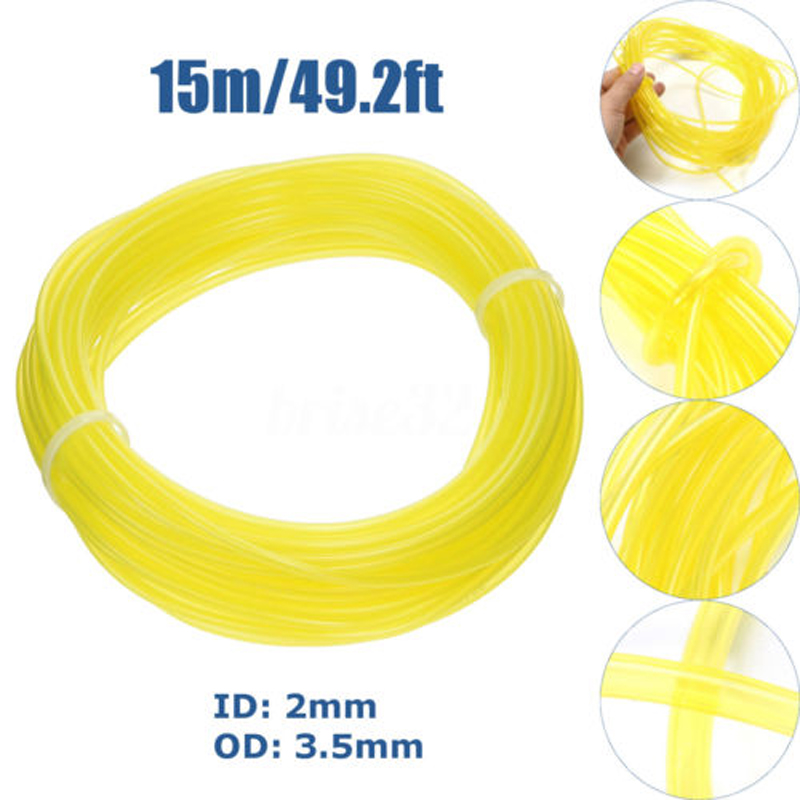 15m Nylon String Trimmer Line Oil Petrol Gas Line Hose For Lawn Mower Grass Trimmer Line Chainsaw Blower Replacement Tools mini garden nylon grass trimmer line light purple 15m
