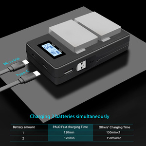 Image 4 - PALO 2Pcs 1800mah LP E8 LPE8 LP E8 Batteria Batterie AKKU + LCD Dual Caricabatteria per Canon EOS 550D 600D 650D 700D X4 X5 X6i X7i T2i
