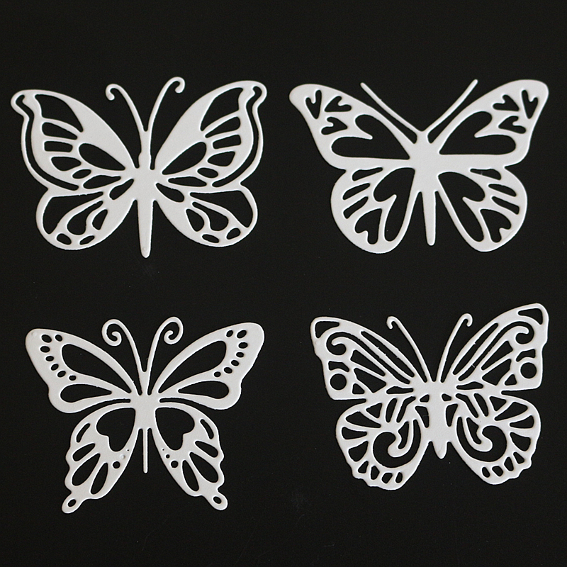 SCD1104 Butterfly Metal Cutting Dies For Scrapbooking Stencils DIY Album Cards Decoration Embossing Folder Craft Die Cuts Tools in Cutting Dies from Home Garden