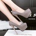 Mujeres los zapatos de tacón sexy tacones de cristal zapatos talones del partido bombas de la plataforma negro zapatos de las mujeres zapatos de boda rhinestone tamaño 34-39X286