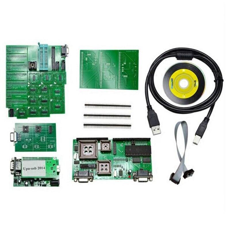 2016 горячая 2014 УПА USB программист В1.3.0.14 С полный адаптеры УПА чип тюнинг инструменты ЭКЮ программист последовательный программист LR10
