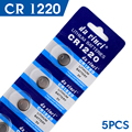 TD 5Pcs 3V Lithium Coin Cells Button Battery CR1220 ECR1220 LM1220 KCR1220 DL1220 24%off