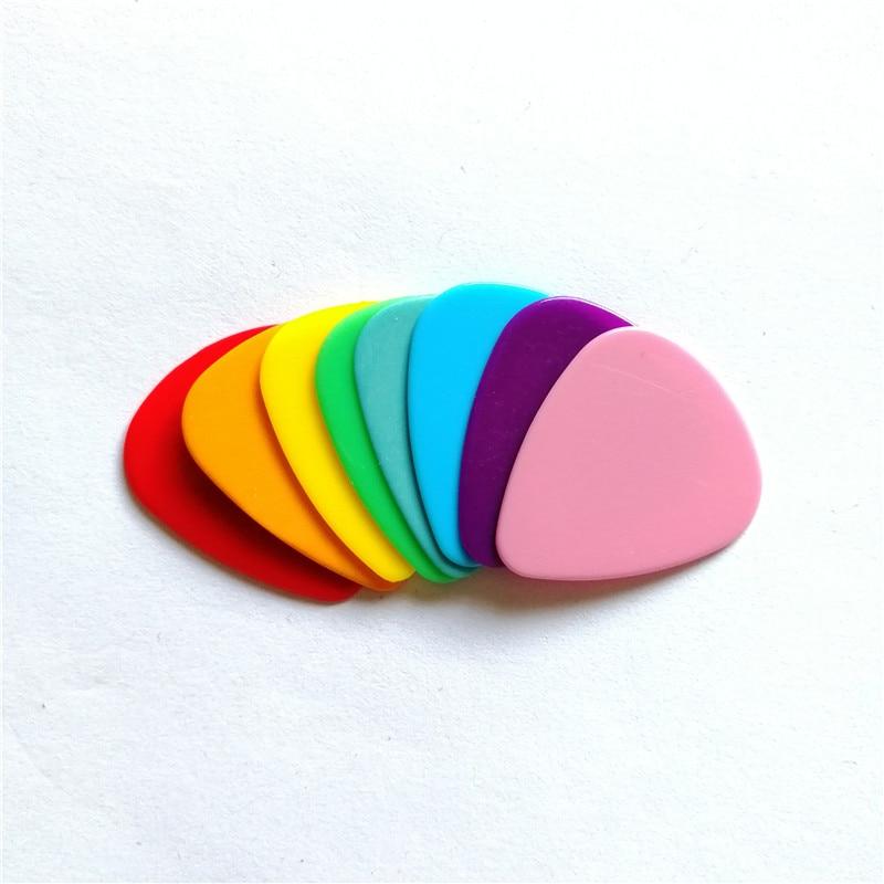 Drop Shipping 100pcs A Lot Blank Nylon Guitar Picks Mixed Colors Thickness 0.71mm