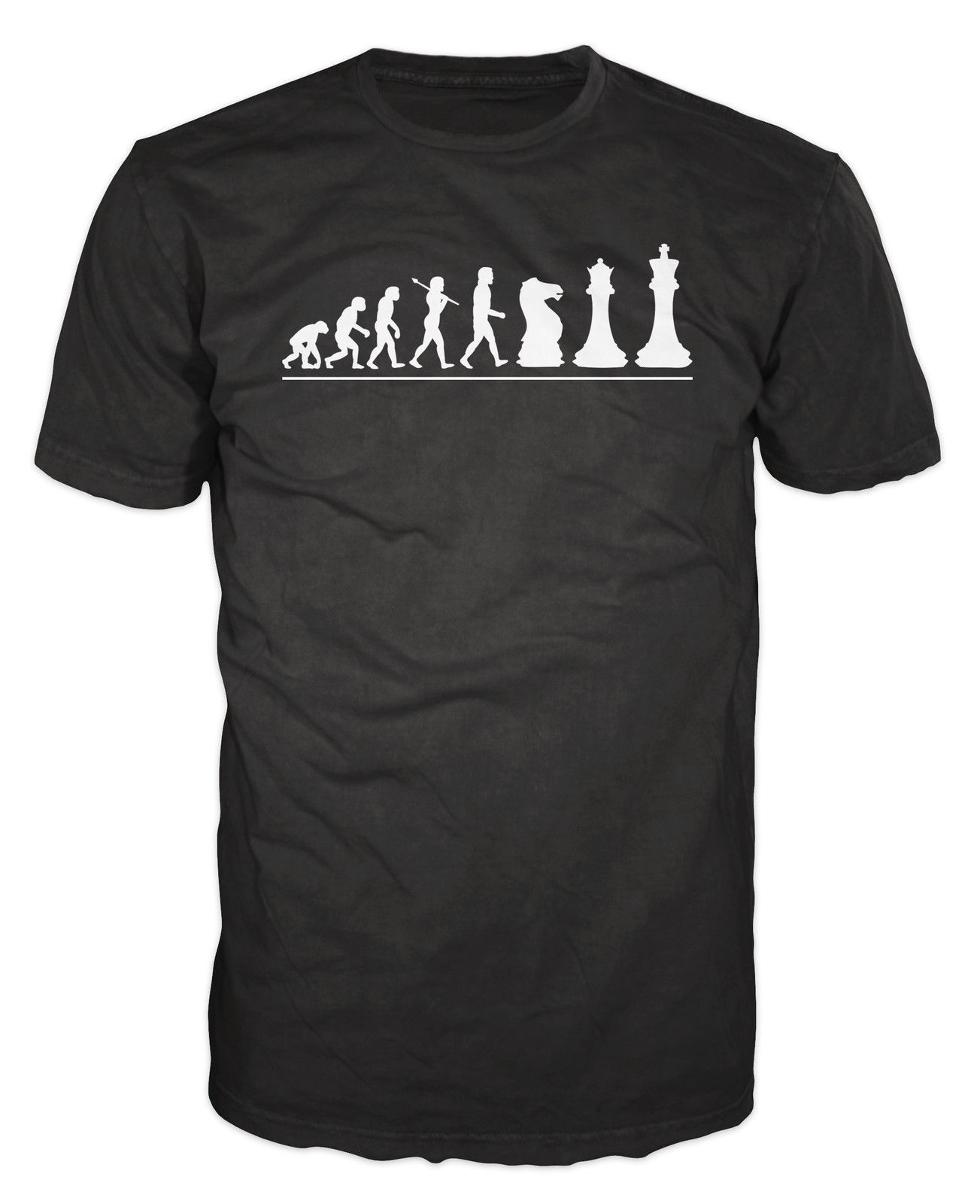 Chess Player Evolution Funny Mind Board Game T-shirt image