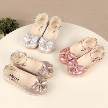 Dziecięce buty dziewczęce letnie dzieci niemowlę dzieci dziewczynki Bowknot kryształowe tańce płytkie pojedyncze buty buciki dla niemowlat A1 tanie i dobre opinie CN (pochodzenie) baby Mieszkanie z Sandały RUBBER Wiosna jesień Pasuje prawda na wymiar weź swój normalny rozmiar Baby girl