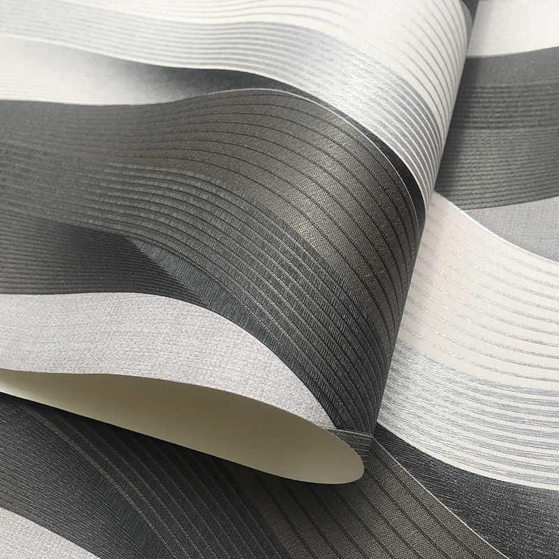 Черный серый белый текстура металла 3D обои с волновым узором виниловая качественная современная роскошная рулон бумаги