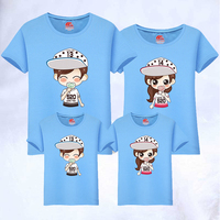 Mom Son Hat Printing T Shirts Matching Happy Family Shirts Matching 2019 Father Mother Daughter Matching Family Clothing