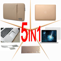 5in1 Hard case Sleeve Bag keyboard cover For 2018 NEW Macbook Pro Air Retina 13 15 Touch Bar 13 15 inch A1989/A1706 A1990/A1707