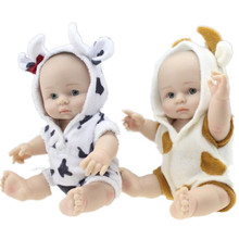 10 Full Body Soft Silicone Reborn Baby Doll Mini Miniature Washable Bath Toys For Gift Unisex Kid Brinquedos Juguetes