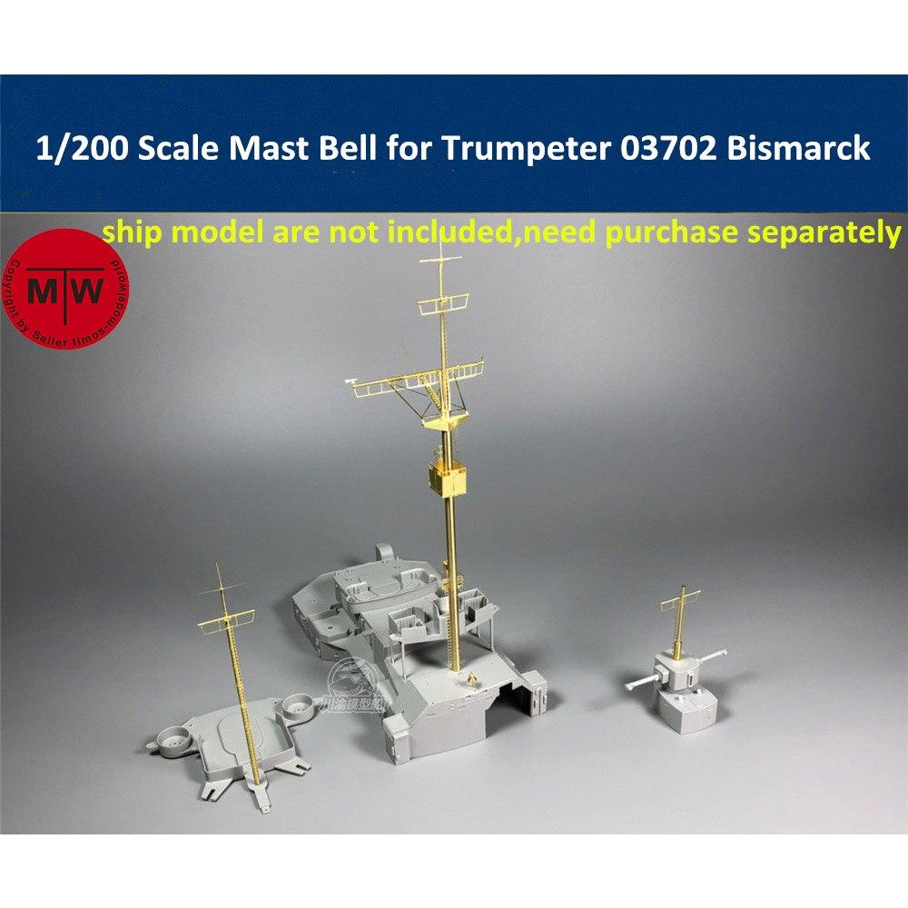 1//200 Metall Mast Detail-Up Upgraded Kits Für Trumpeter 03702 Bismarck CYG019