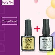 Belle Fille Gel Nail Polish Base Coat Top Coat Polish Gel Soak Off UV LED Long Lasting Nail Gel Lacquer 2018 Nail Varnish