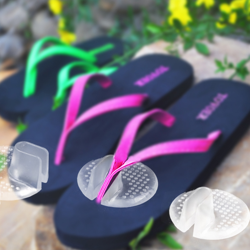 Summer Recommend Silicone transparent flip flops pad/cushion relieve pain for your foot HT0054