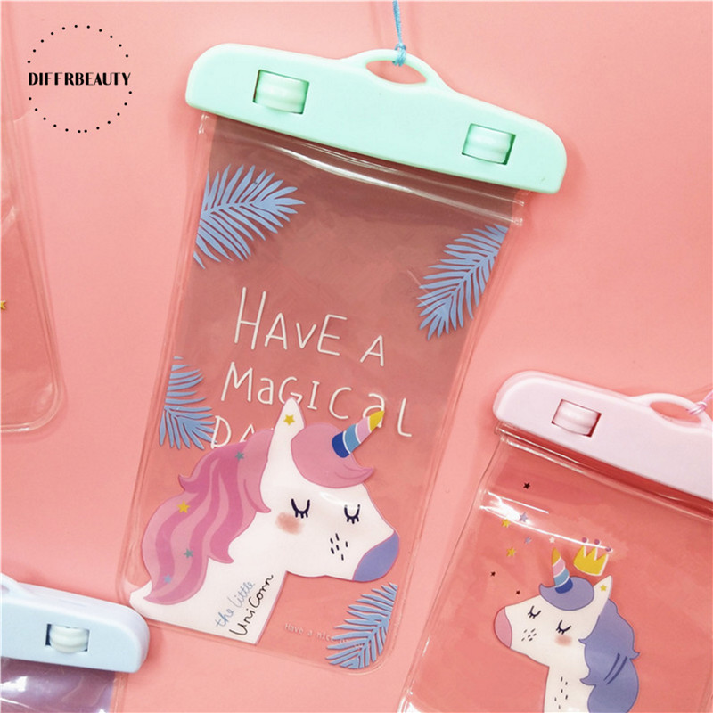 New Flamingo Cactus Unicorn Waterproof Pouch DIFFRBEAUTY Phone Case For iPhone Samsung Coin Purse Card Holder Storage Wallet Bag