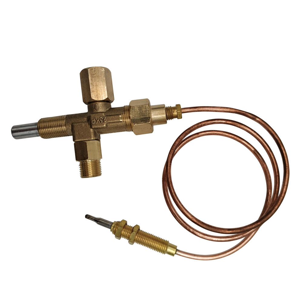 Gas Brooder Heater Parts LPG Push Control Valve M12*1 With Thermocouple 600mm Whole Set