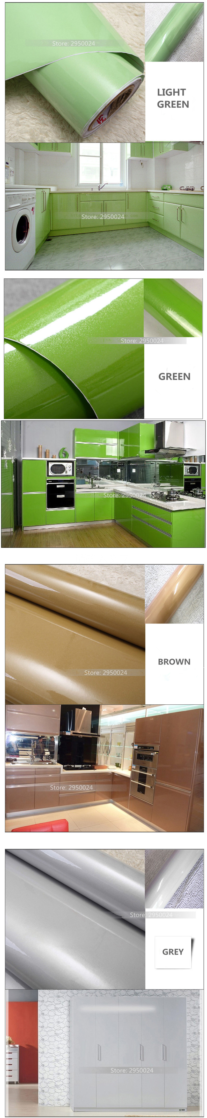 PVC Self adhesive Wallpapers Rolls Modern Kitchen Wall Papers