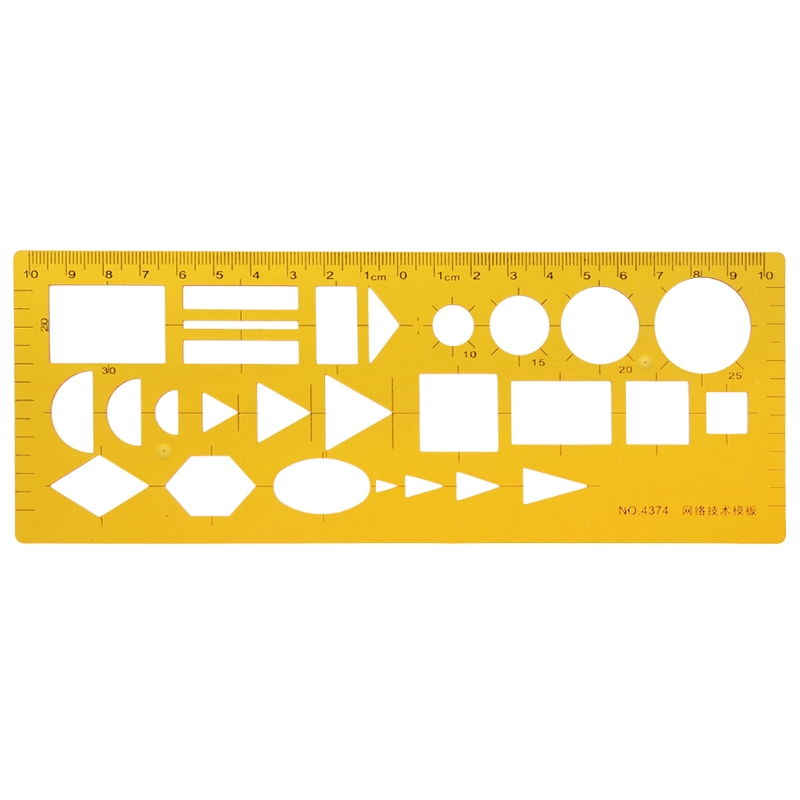 K Resin Ruler Network Technique Technical Drawing Template Ruler Drafting Measuring Tool Ruler School Accessories