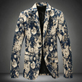 Plus Size M-5XL Men Blazer New Style Fashion Print Autumn Casual Dress Slim Man Coat Jacket blazer men suit mens floral blazer