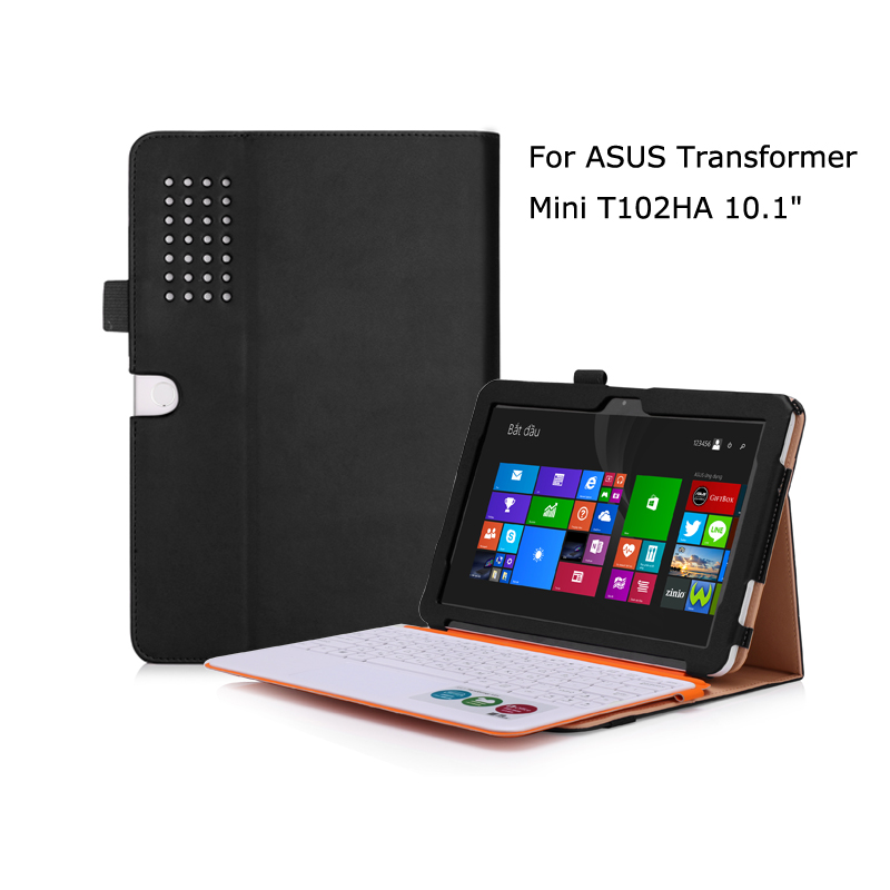 Luxury Flip Stand PU Leather Keyboard Station Cover Business Card Slot Holder Case for ASUS Transformer Mini T102HA 10.1