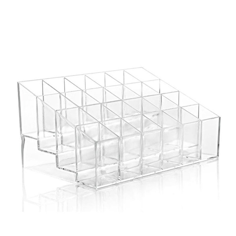 Multiple Grid Acrylic Transparent Makeup Organizer for lipstick Nail Polish and Cosmetic for Women 5