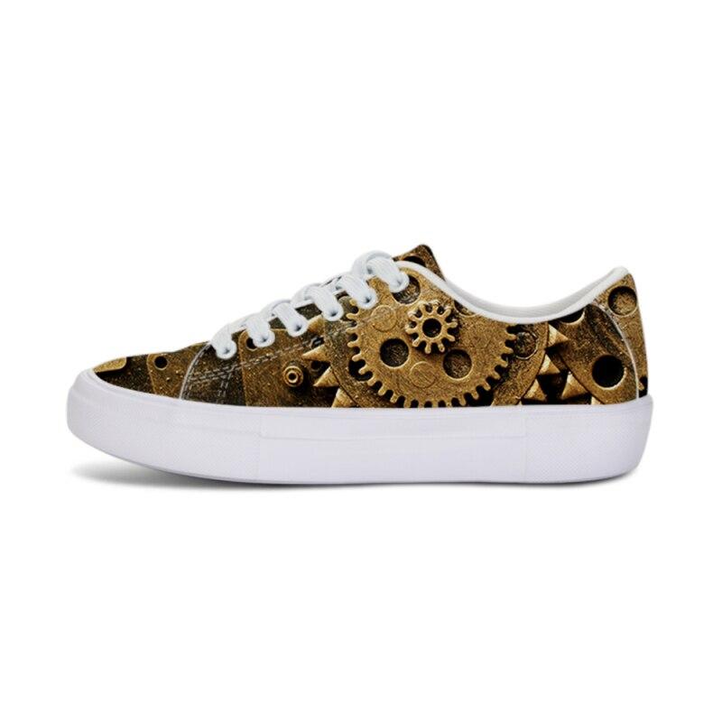 2018 Summer Women PU Flat Shoes Fashion Golden Printed Ladies Platform Shoes Casual Gilrs School Sneaker Female Footwear Spring
