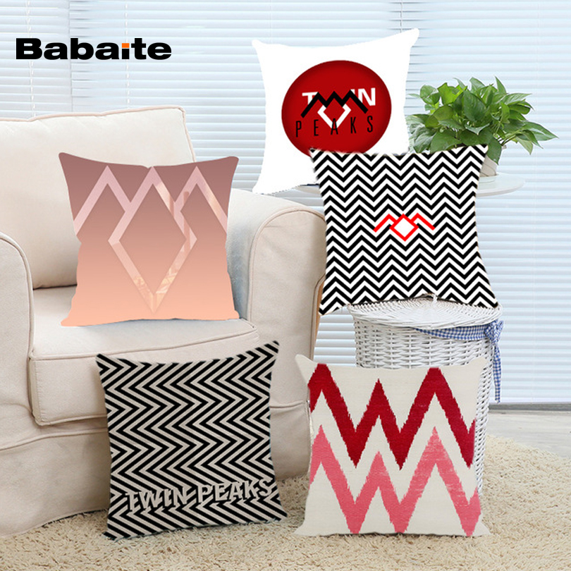 Babaite Cheap Twin Peaks Black Lodge Pillowcases cover 16x16 18x18 20x20 24x24 inch Two Size Home Producte Case Cover