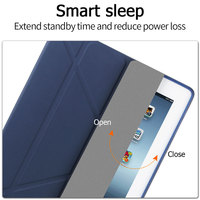 protective pu leather TPU Soft Tablets Case For iPad 2/3/4 Multi-fold Protective Cover Smart Wake Up Sleep PU Leather Tablet Case For iPad 2 3 4 Case (4)