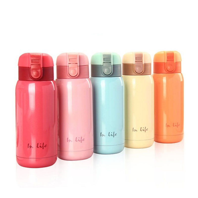 Insulated bpa free creative portable CHILDEN belly vacuum cup sport my water 350ml BABY stuff thermos flask bottle