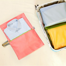 4 unids/set camisa de Ropa Tidy Organizador Bolsa de Almacenamiento De Equipaje Bolsa de Viaje Maleta Portátil bolsa de Almacenamiento de clasificación